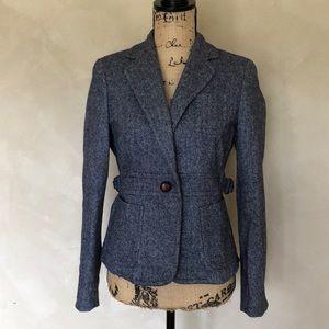 J. Crew Scottish wool herringbone blazer jacket